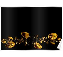Gold and Black Poster