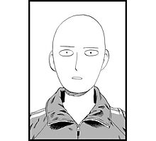 Manga one punch man face Photographic Print