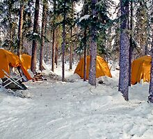Brooks Range Winter Camp by Gary Benson