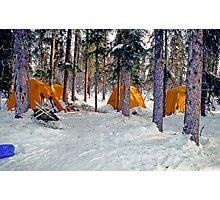 Brooks Range Winter Camp Photographic Print