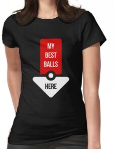 My Best Balls Here - Game Shirt Womens Fitted T-Shirt