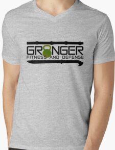 Green Full Logo for Granger Fitness and Defense  Mens V-Neck T-Shirt