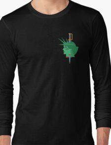 Statue of Liberty Flat Design Illustration Long Sleeve T-Shirt