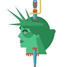 Statue of Liberty Flat Design Illustration by JamesShannon
