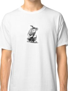 Puppy - black and white sketch Classic T-Shirt