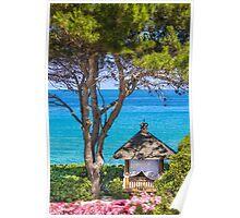 Saint Tropez Massage gazebo, France Poster