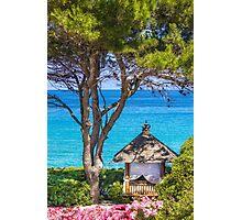 Saint Tropez Massage gazebo, France Photographic Print