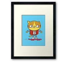 Meowrty CatFly Framed Print