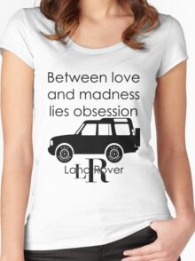 Calvin Klein & Land Rover (Parody) Women's Fitted Scoop T-Shirt