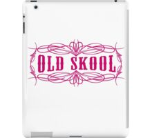 Old Skool Pinstripe Design in pink iPad Case/Skin