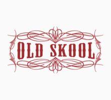 Old Skool Pinstripe Design in red by UncleHenry