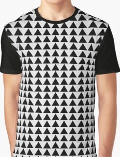 Minimalist black and white classy modern triangle pattern clothing and gift design Graphic T-Shirt