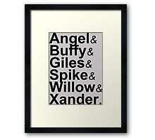 Angel Buffy The Scooby Gang Framed Print