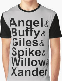 Angel Buffy The Scooby Gang Graphic T-Shirt