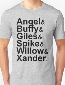 Angel Buffy The Scooby Gang Unisex T-Shirt