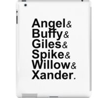 Angel Buffy The Scooby Gang iPad Case/Skin