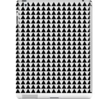 Minimalist black and white classy modern triangle pattern clothing and gift design iPad Case/Skin