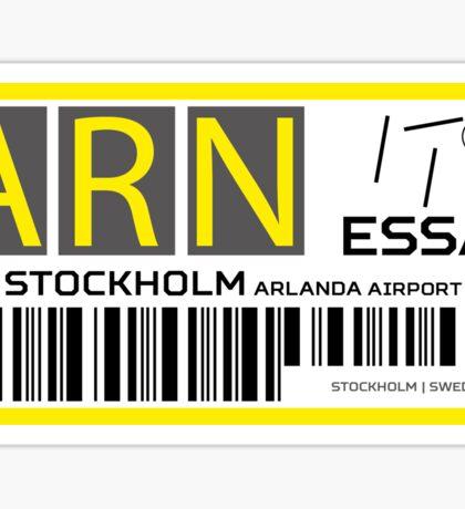 Destination Stockholm Airport Sticker