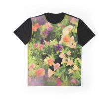 Summer Splash of Florals Graphic T-Shirt
