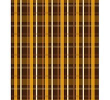 Brown Plaid Tartan by Jeff East