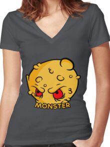 Monster Vector Women's Fitted V-Neck T-Shirt