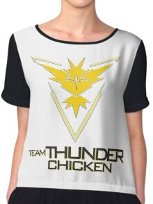 Team Thunder Chicken Chiffon Top