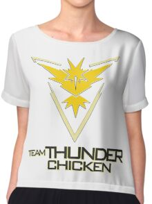Team Thunder Chicken Chiffon Top