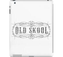 Old Skool Pinstripe Design in grey  iPad Case/Skin