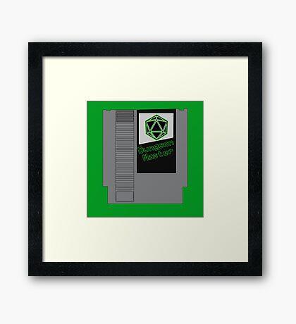 Dungeon Master NES Cartridge Mash Up Framed Print