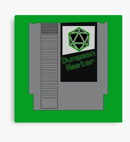 Dungeon Master NES Cartridge Mash Up Canvas Print