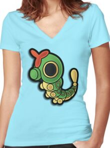 Paper Caterpie Women's Fitted V-Neck T-Shirt