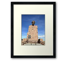 Lincoln Monument, IS80 Wyoming, USA Framed Print