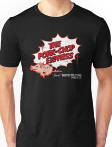 Pork Chop Express - Distressed Red Outline Variant Unisex T-Shirt