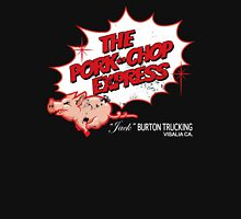 Pork Chop Express - Distressed Red Outline Variant Womens Fitted T-Shirt