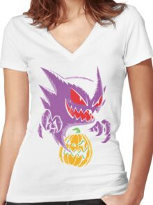 Haunting Women's Fitted V-Neck T-Shirt