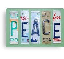 me peterson designs | peace Canvas Print