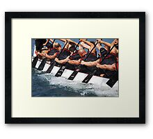 Going All Out Framed Print
