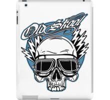 Old Skool Skull Design in blue iPad Case/Skin
