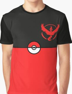 Red Team Pokemon Go Graphic T-Shirt