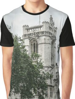 Union Jack Flying Over Westminster Abbey Graphic T-Shirt