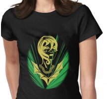 Sanity in Disguise (green)  Womens Fitted T-Shirt
