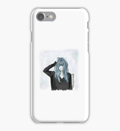 Silver Blue Hair color girl iPhone Case/Skin