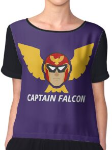 Captain Falcon Head Chiffon Top