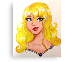 Amethyst, Pearls, and Gold Canvas Print