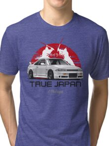 Nissan Skyline GTR R33 (white) Tri-blend T-Shirt