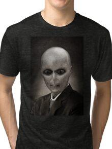 Alien portrait Tri-blend T-Shirt