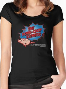 Pork Chop Express - Distressed Extreme Blue Variant Women's Fitted Scoop T-Shirt