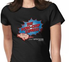 Pork Chop Express - Distressed Extreme Blue Variant Womens Fitted T-Shirt