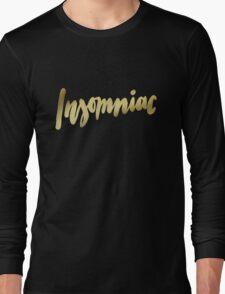 Insomniac brush lettering Long Sleeve T-Shirt