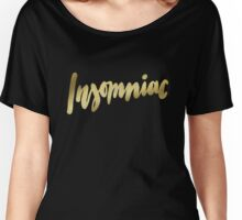 Insomniac brush lettering Women's Relaxed Fit T-Shirt